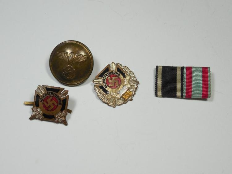 Group Lot WWII Nazi German Items Inc. Pins