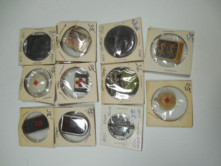 Group Lot of 11 Nazi German WWII Tinnies, etc