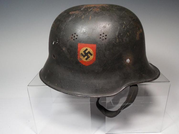 Antique WWII Military Helmet w/Unit Decals