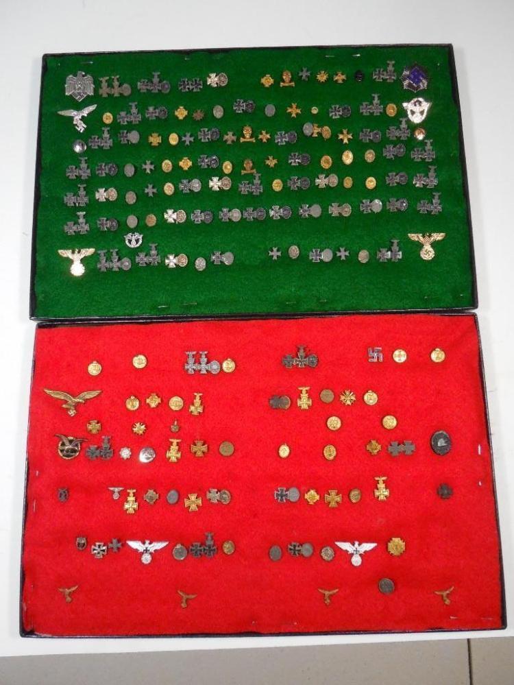Collection Nazi German Stick Pins, Medals Pins