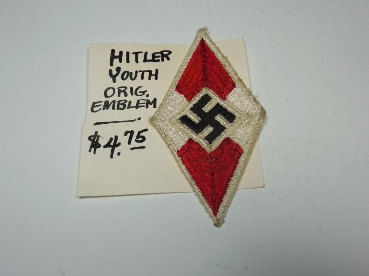 Nazi German WWII Hitler Youth Patch