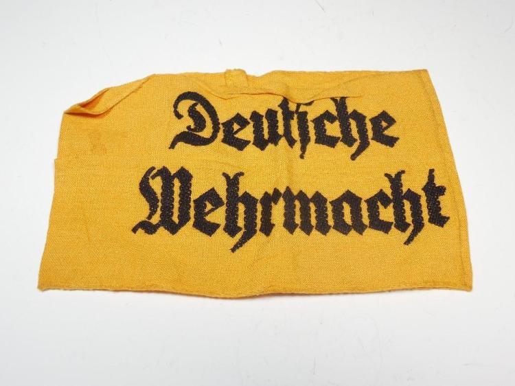 Yellow German WWII Deutsche Wehrmacht Armband