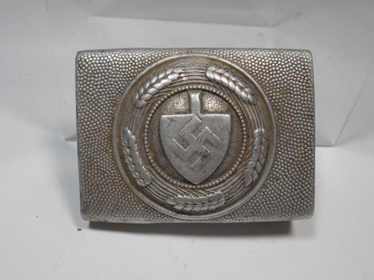 German WWII Nazi RAD NCO Belt Buckle Labor Service
