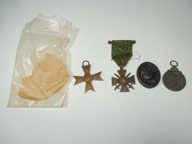 Group Lot 4 WWII Medals/Badges Inc. Nazi Germany