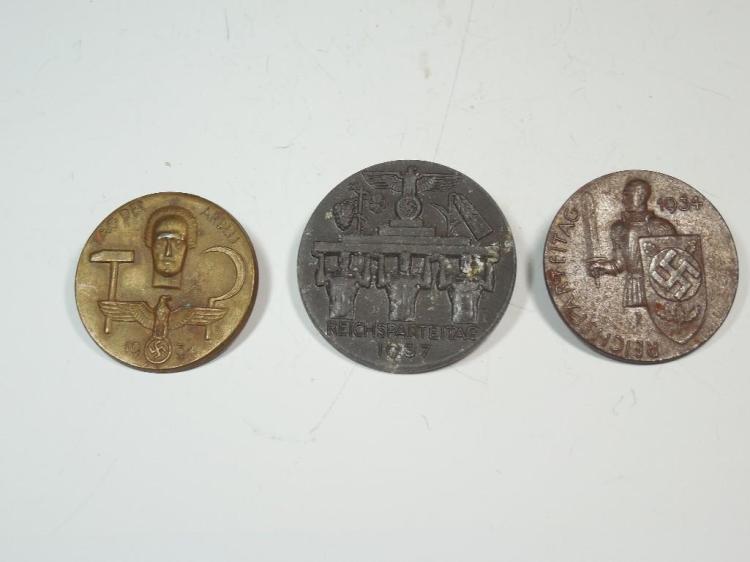 Group Lot of 3 Nazi German Tinnies