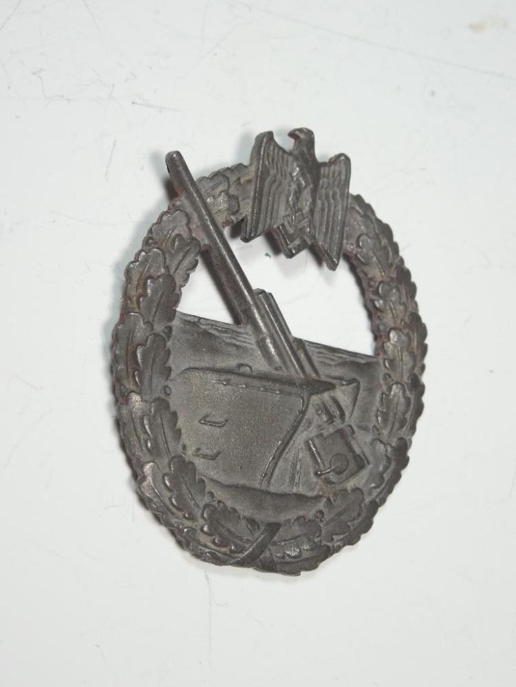 Nazi German WWII Coastal Artillery Badge