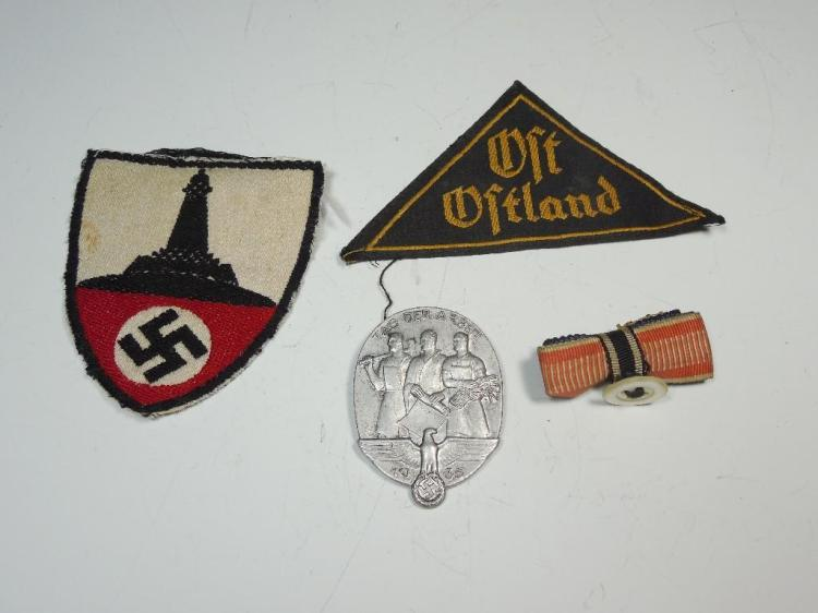 Group Lot German WWII Items Inc. Patches