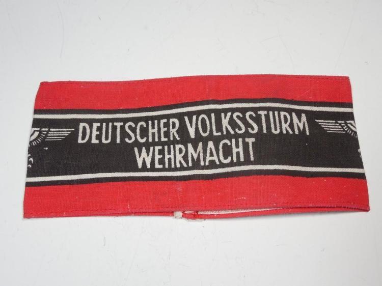 WWII German Volkssturm Last Ditch Milita Armband