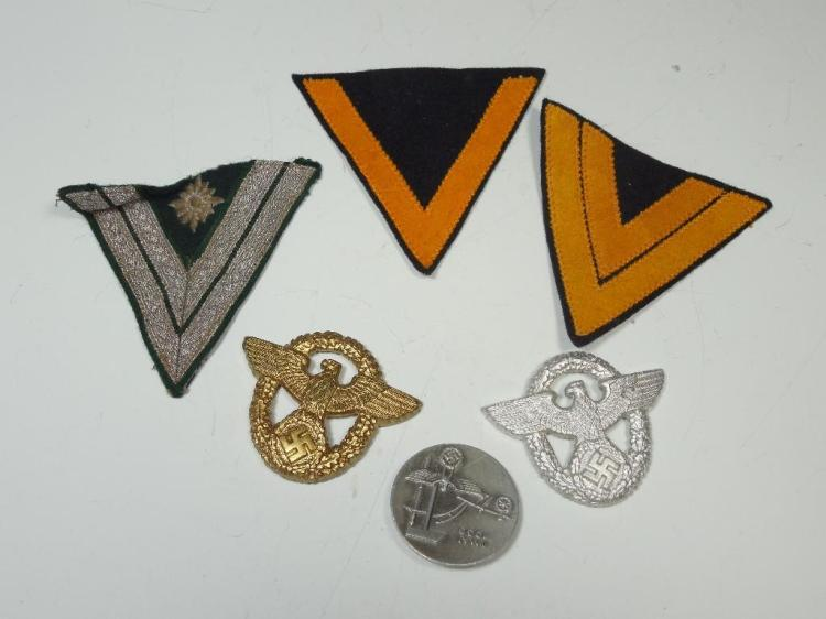 Group Lot Nazi German WWII Pins, Patches, Tinnies