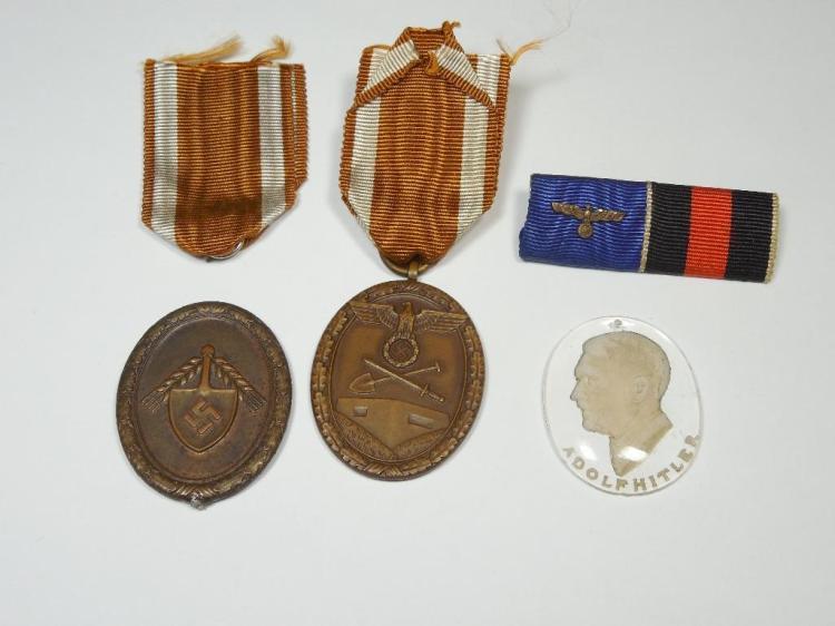 Nazi German WWII Medals, Ribbon etc Lot