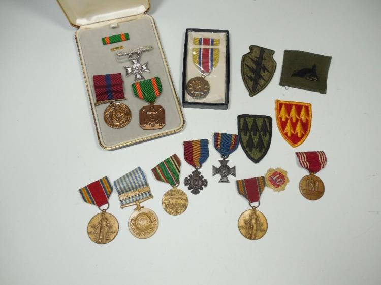 Large Lot US Military Insignia, Medals Etc