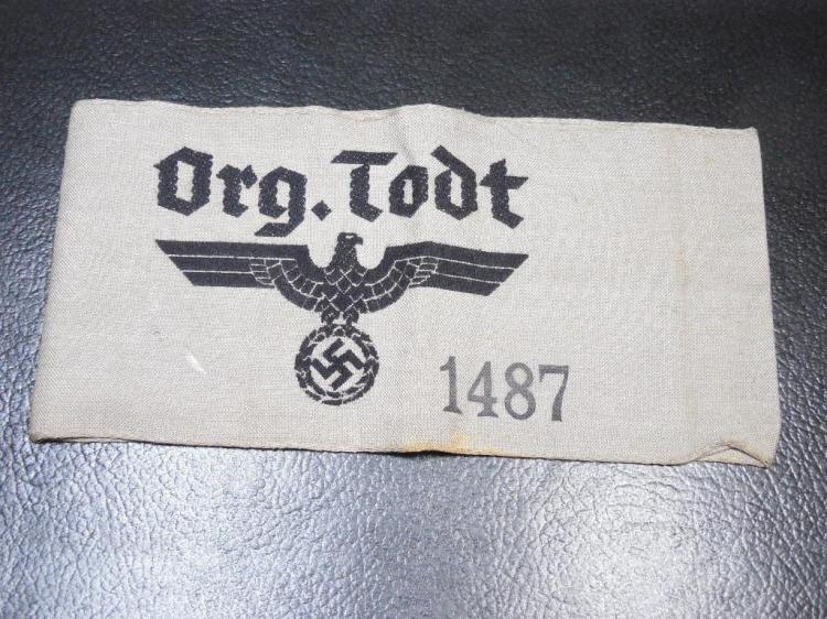 Rare Organisation Todt Nazi German WWII Armband