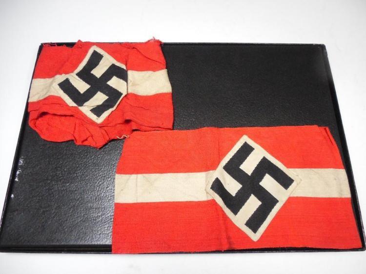 2 Nazi German Hitler Youth Armbands