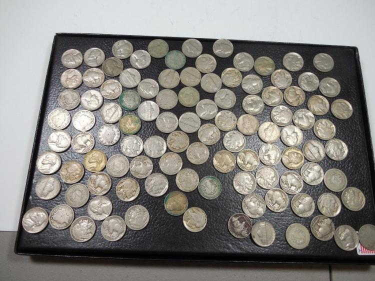 Large Lot of 105 Old Nickels - Many Types
