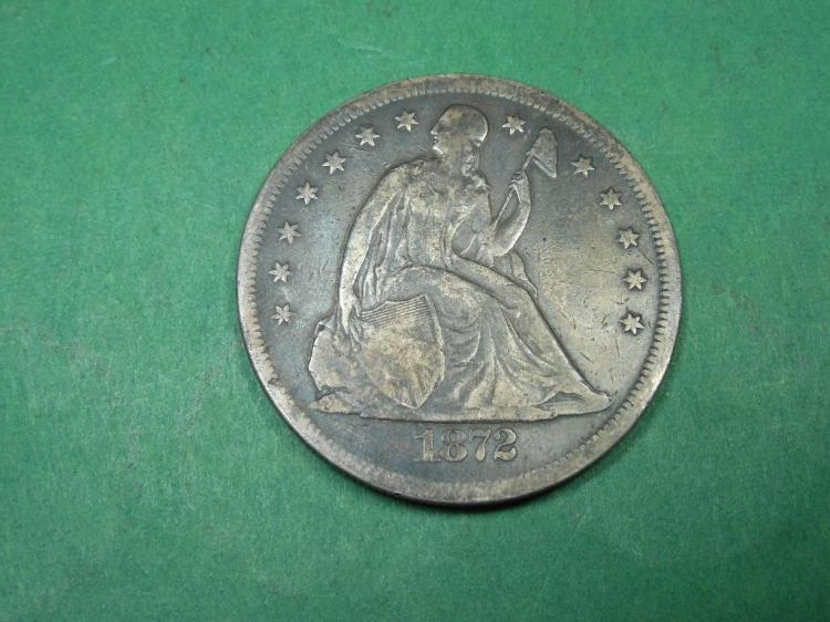 1872 $1 Coin in VF Condition Nice