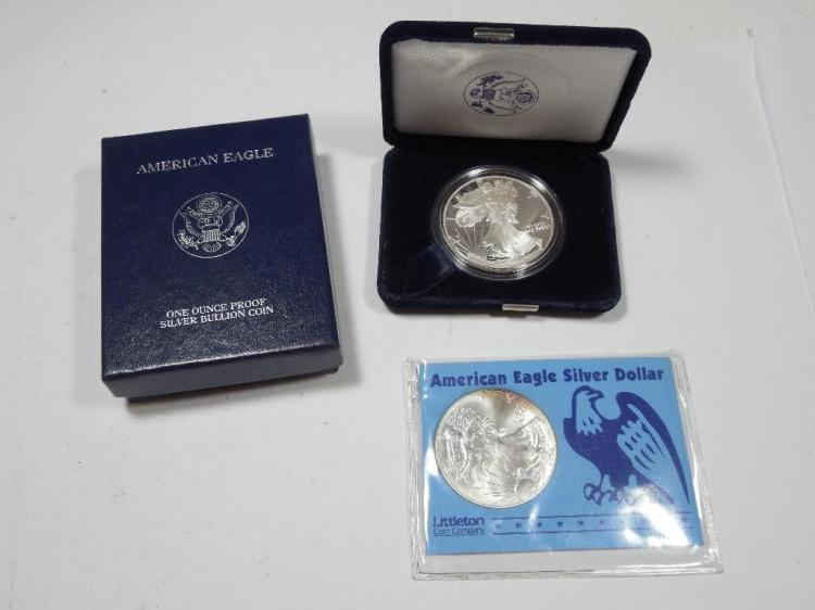 Group lot of 2 US Silver Dollar Coins