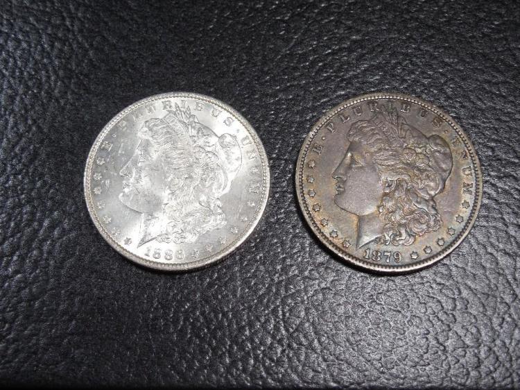 2 Very Nice Morgan Silver Dollar Coins