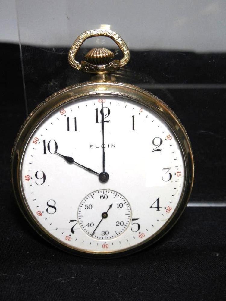 Gold Filled Elgin Pocket Watch 12 size 7 Jewels