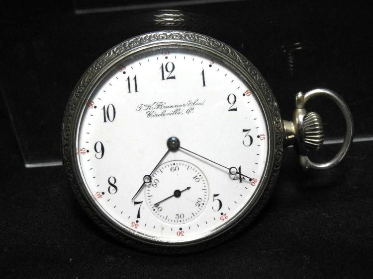 Circleville Ohio Branded Pocket Watch 16s 17J