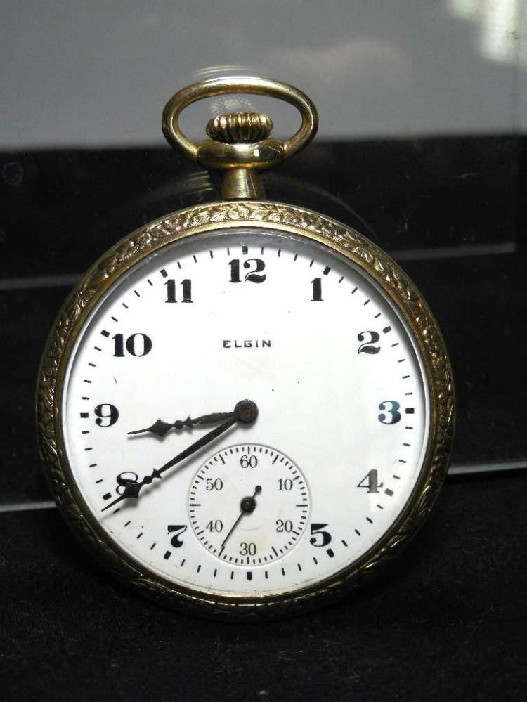 Gold Filled 12 Size 7J Elgin Pocket Watch