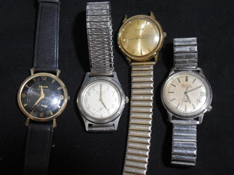 Group Lot Vintage Men's Watches - All Bulova