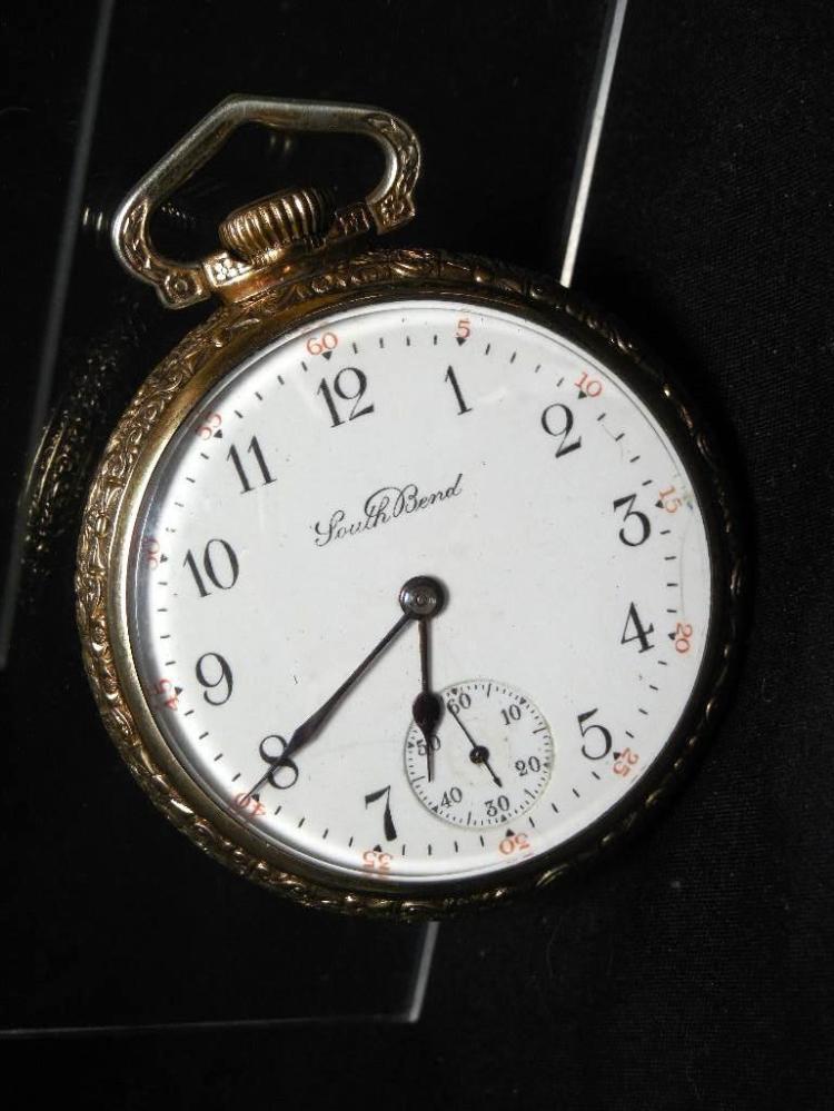 South Bend Gold Filled 21J Railroad Pocket Watch