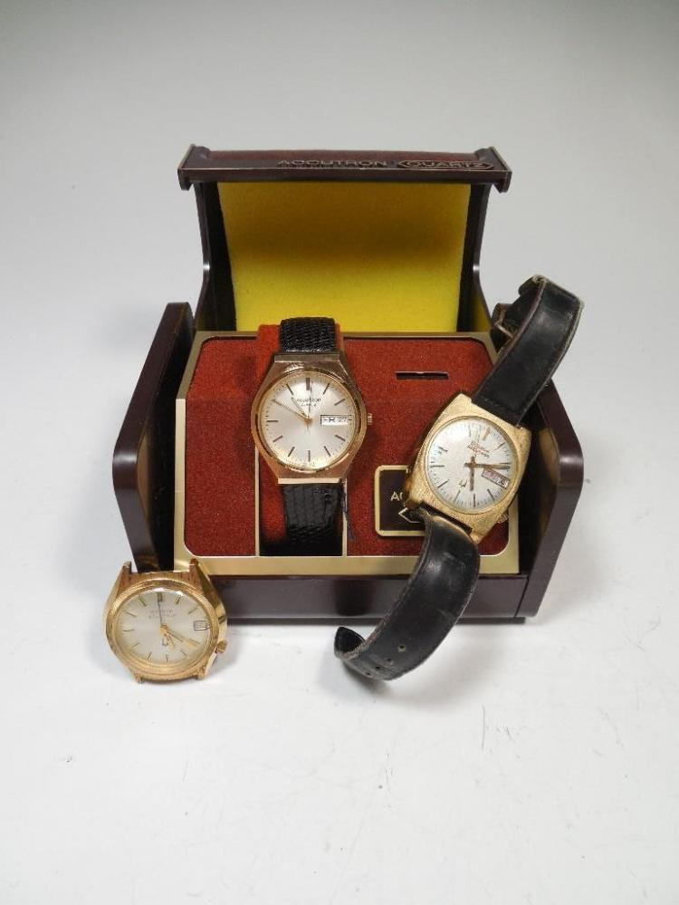 Group Lot of 3 Vintage Bulova Accutron Watches