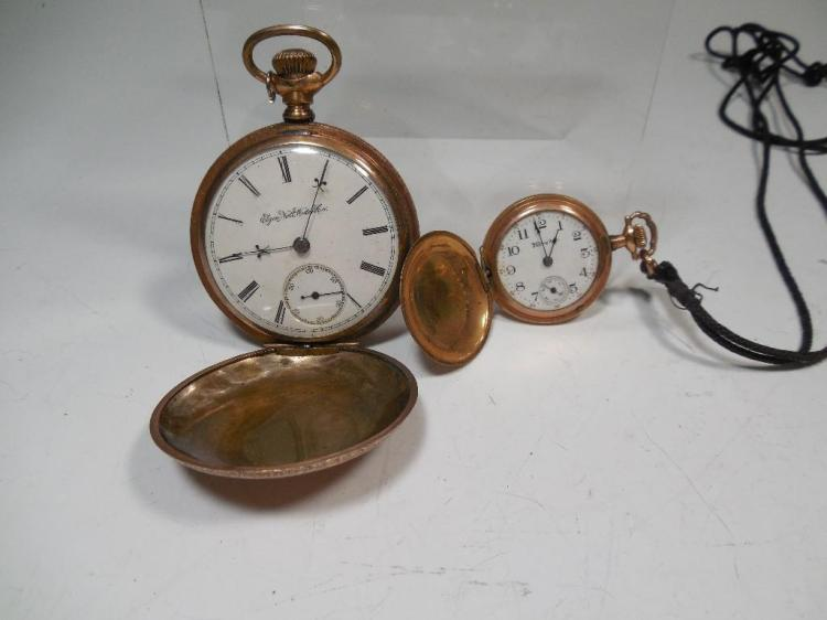 Two Antique Gold Filled Pocket Watches
