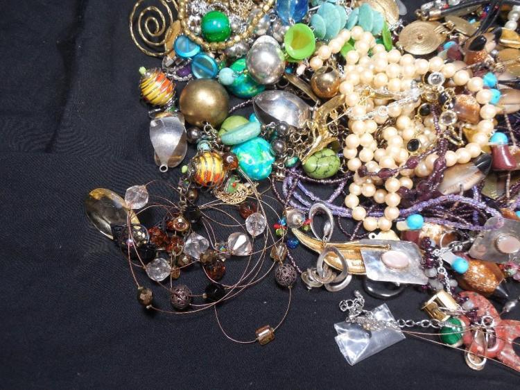 Huge Group Lot Vintage Jewelry Necklaces etc