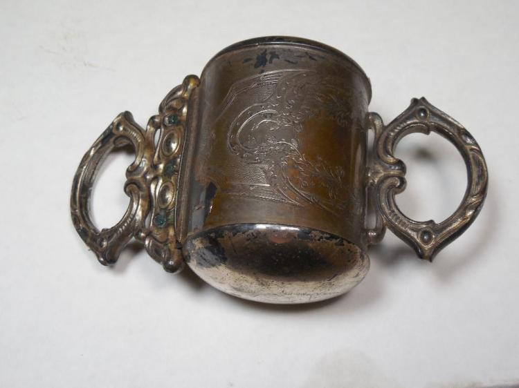 Silver Plate Portable Razor Strop, Spring Loaded