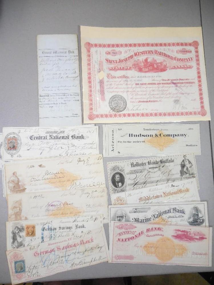 Tombstone AZ 1880s Bank Draft PLUS Others