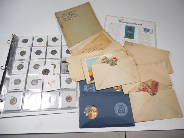 Large Lot of Coins and Stamps