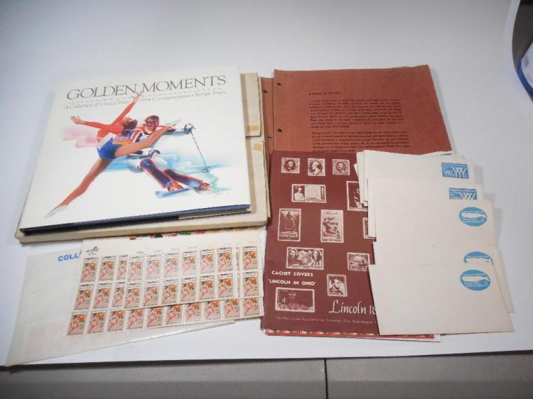 Large Group Lot Unused Stamps Inc. Sheets