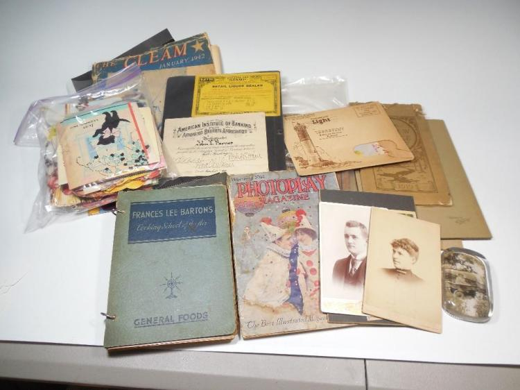 Large Group Lot Vintage Paper, Ephemera
