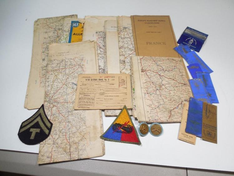 Large Lot WWII Military Europe Maps PLUS