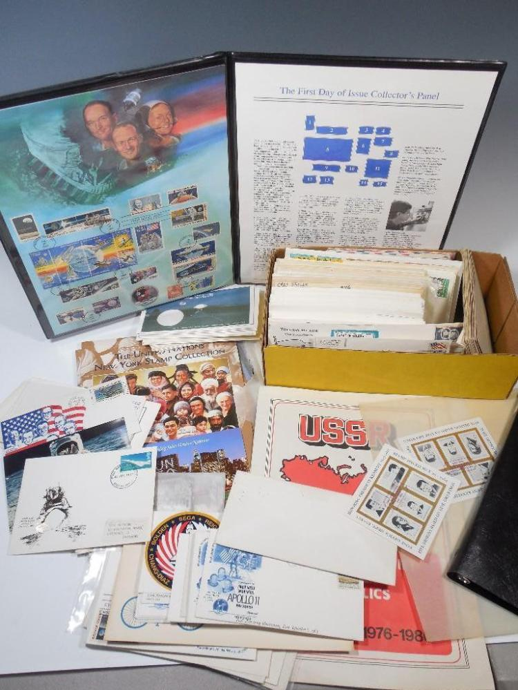 Large Group Lot of Space Memorabilia, Stamps