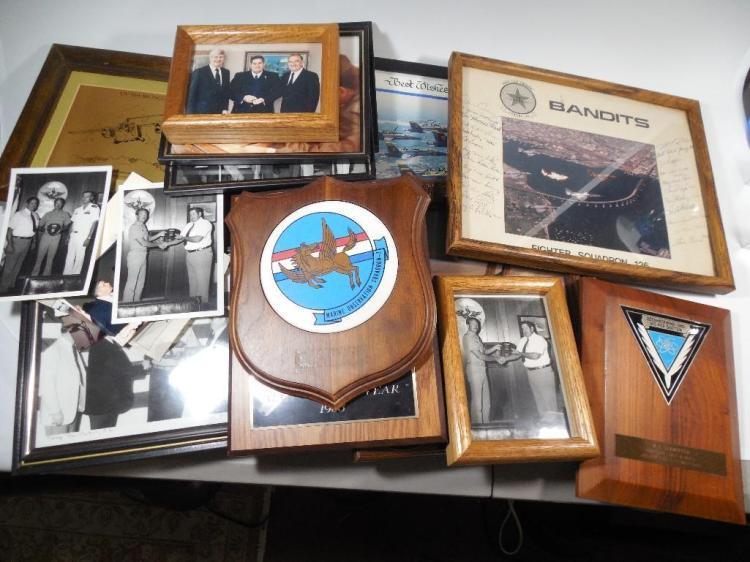 Large Lot Signed Aviation Photos, Awards etc