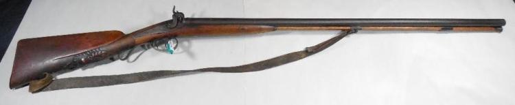 Antique European LePage Shotgun w/Fancy Carved Stock