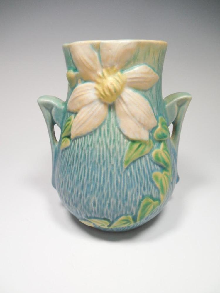"Roseville Pottery 103-6"" Clematis Vase"