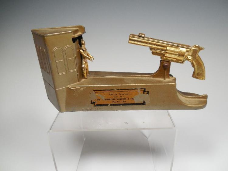 Vintage Shooting Gun bank - Advertising