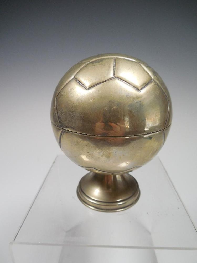 Antique Silverplate Soccer Ball Ring Holder