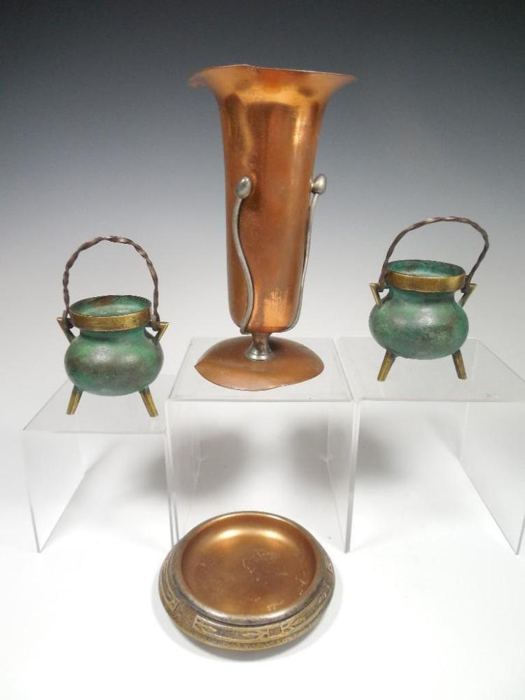 Group Lot of Deco, Art Nouveau Metal ware