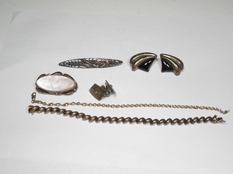 Group Lot of Sterling Silver Jewelry inc. MOP