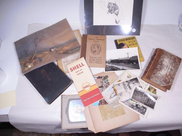 Group Lot of Vintage Artwork, Photos, Books etc