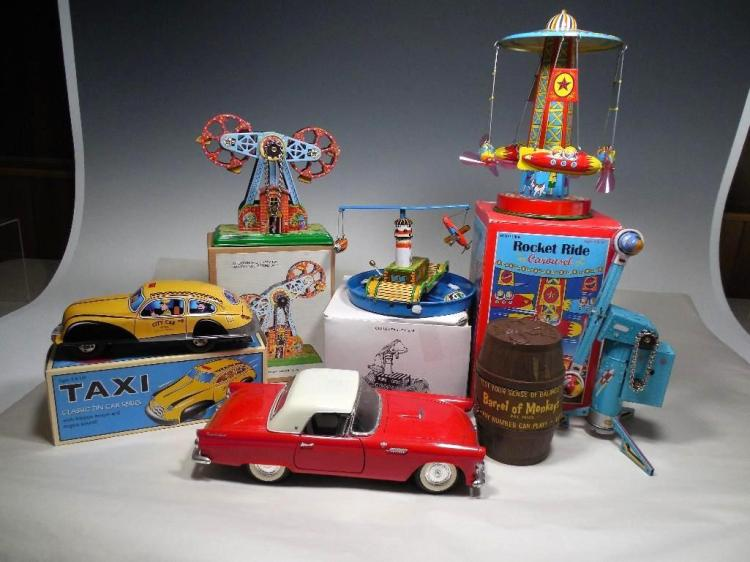 Group Lot Tin Toys and More Inc. Boxes