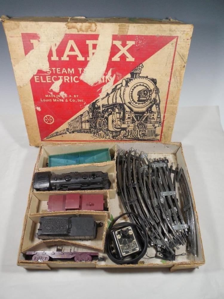 Vintage Marx Toy Train Set in Box w/Engine