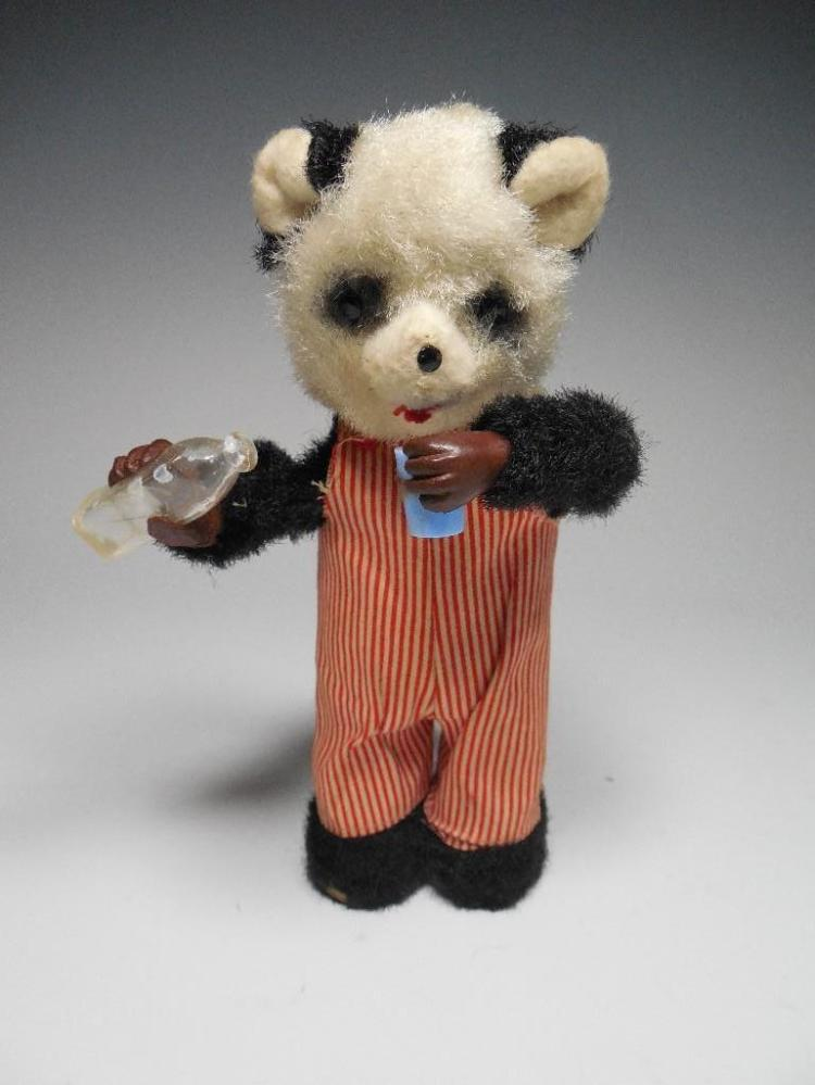 Vintage Battery Op Toy Bear Pouring Drink
