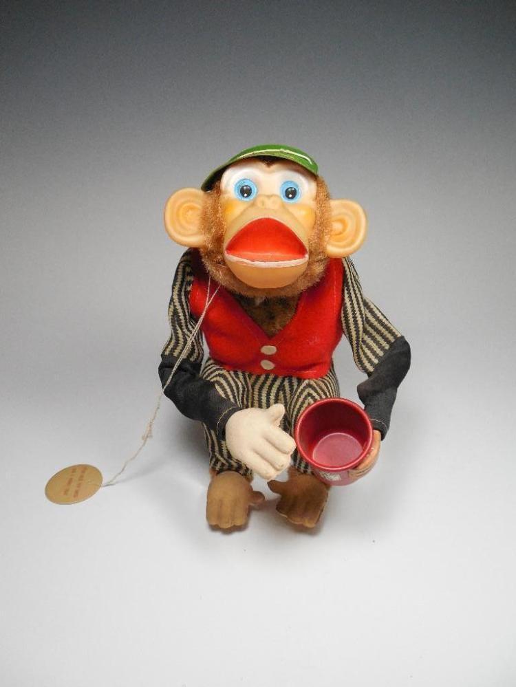 Vintage Toy Battery Op Monkey Cragstan Japan