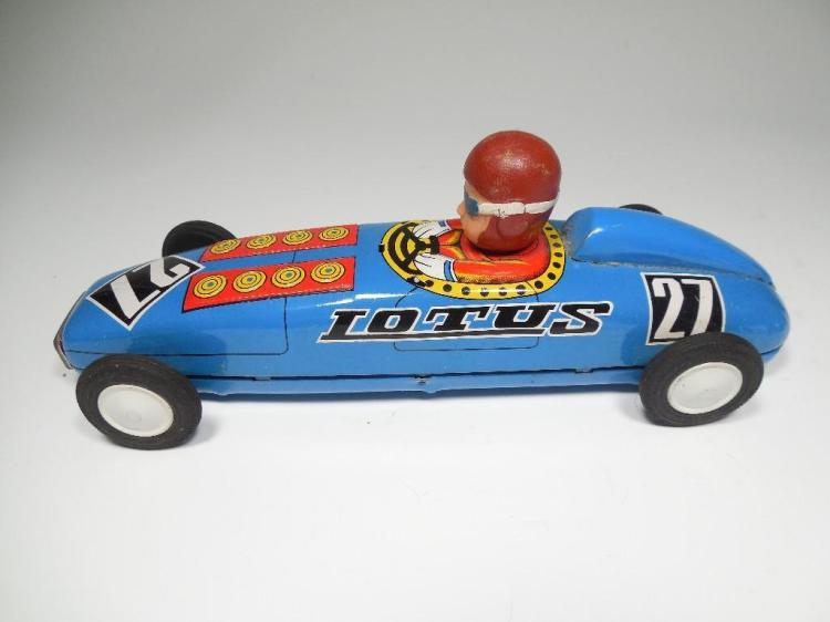 Vintage Metal Lotus Toy Car w/Driver