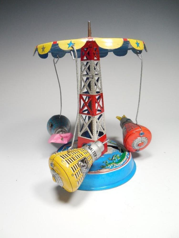 Original Vintage Named Space Capsule Tin Toy